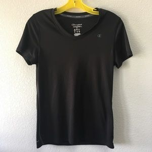 CHAMPION black v neck performance workout tee